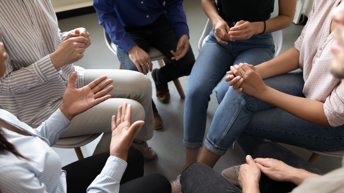 People participating in group therapy