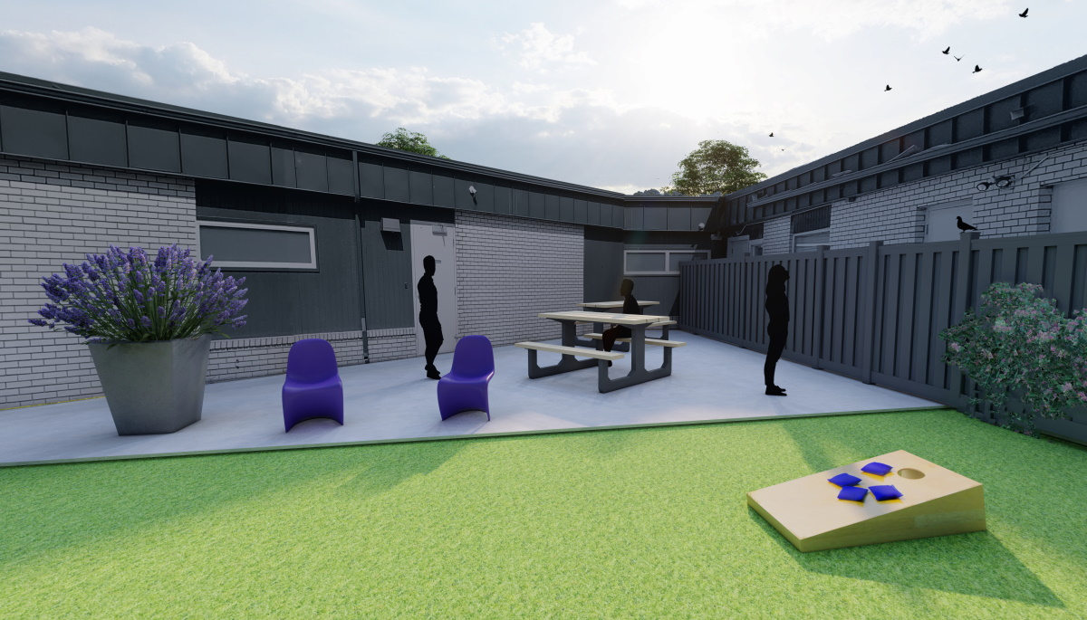 CMH Receives Generous Donation to Complete Outdoor Courtyard